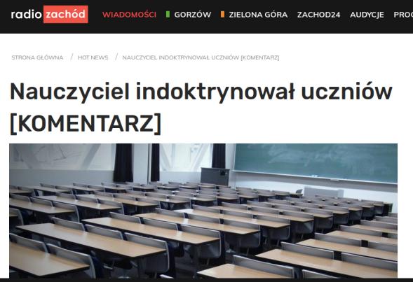 http://www.zachod.pl/nauczyciel-indoktrynowal-uczniow-szkoly-sredniej/